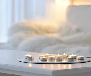 candle, white, and decor image