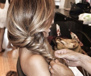 braid, hair, and gorgeous image