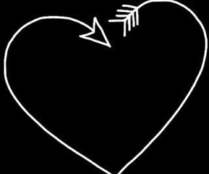 overlay, heart, and black image