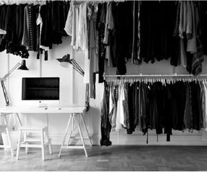 clothes, apple, and closet image