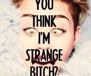 miley cyrus, bitch, and miley image