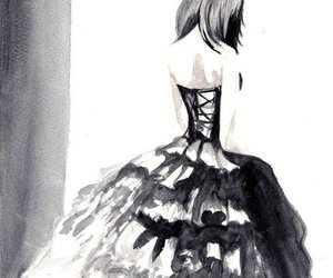 anime, dress, and draw image