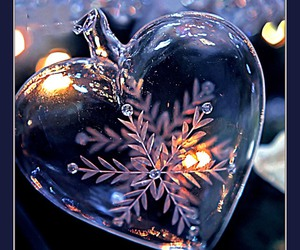 heart, lights, and new year image