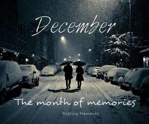 december, memories, and snow image
