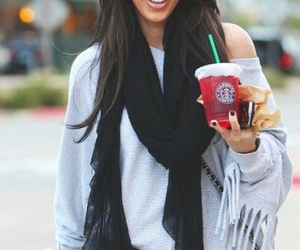 kim kardashian, starbucks, and style image