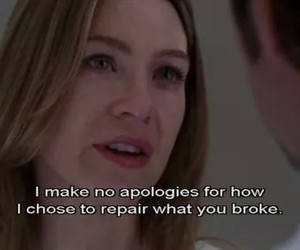 meredith, grey's anatomy, and pain image