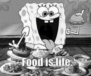 food, life, and spongebob image