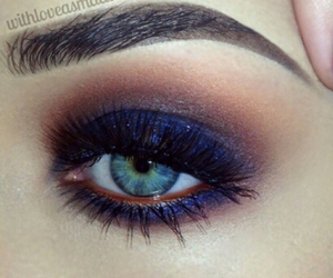 beautiful, blue eyes, and makeup image