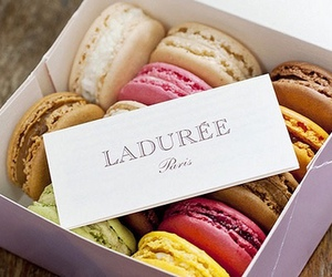 food, laduree, and macaroons image