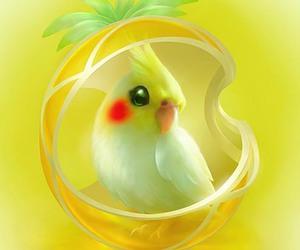 art, bird, and yellow image