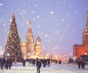 snow, christmas, and russia image