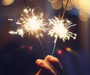 light, christmas, and sparkler image