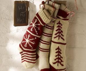 christmas, socks, and winter image