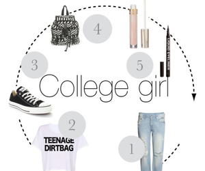 college, fashion, and look image