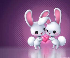 happiness, love, and bunnies image