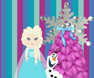 christmas, frozen, and wallpaper image