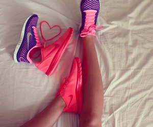 fitness, legs, and pink image