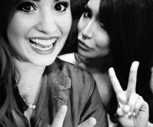 demi lovato, glee, and naya rivera image
