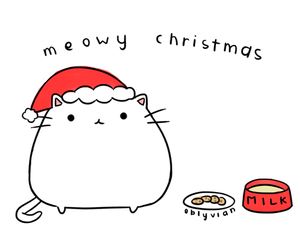 christmas, cat, and holiday image