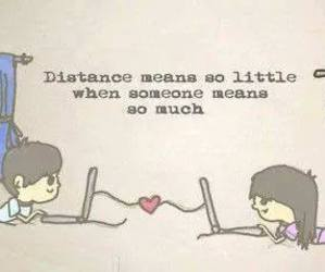 love, distance, and Relationship image