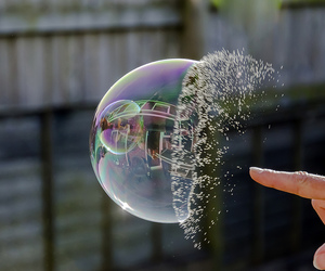bubbles and water image