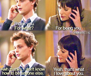 criminal minds, matthew gray gubler, and paget brewster image