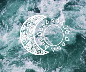 moon, sun, and sea image