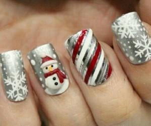 christmas, nails, and winter image