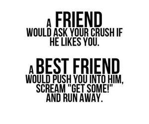friends, crush, and best friends image