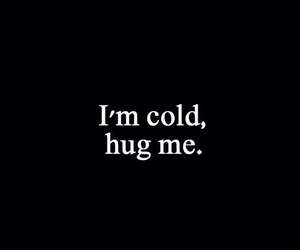cold, hug, and young image