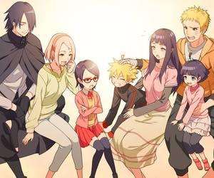 anime, naruto, and family image