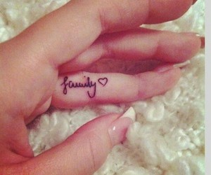 tattoo, family, and nails image