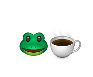 coffee, iphone, and kermit image