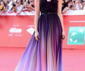 dress, lily collins, and purple image