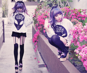 pastel goth and kawaii image