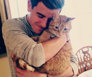 cat, connor franta, and youtube image