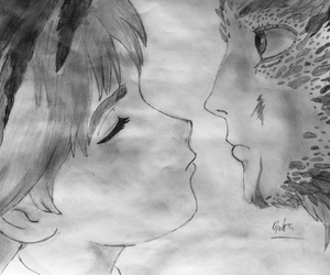 anime, artwork, and kiss image