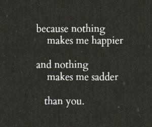 sad, love, and happy image