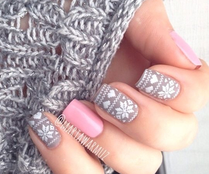 nails, snow flakes, and sweater image
