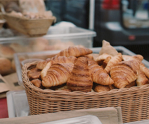 breakfast, food, and croissant image