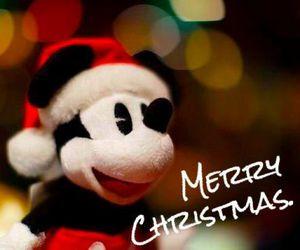 christmas, merry christmas, and mickey mouse image