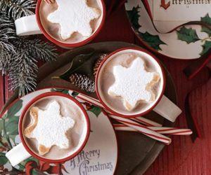 christmas, coffee, and drink image