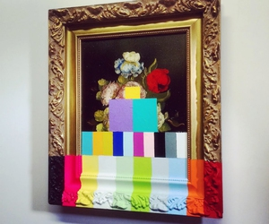painting, art, and flowers image