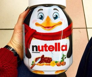 nutella, penguin, and love image