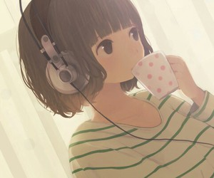 anime, music, and anime girl image