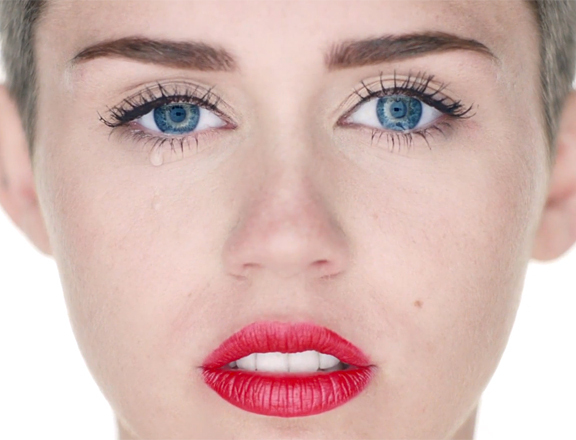 lips, blue eyes, and miley cyrus image