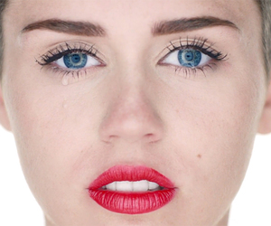 blue eyes, lips, and miley cyrus image