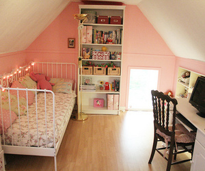 bedroom, romantic, and shabby cute image