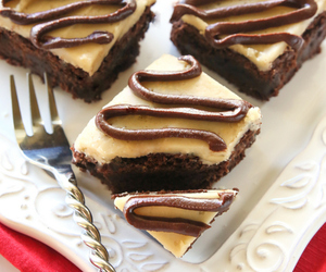 brownies, chocolate, and coconut image