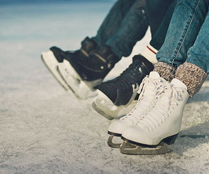 winter, ice, and ice skating image